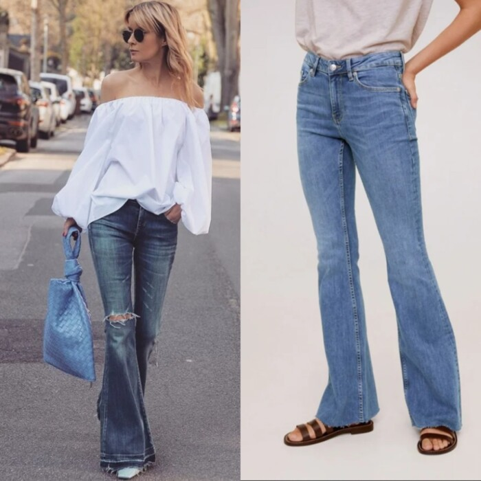 джинси кльош середньої посадки