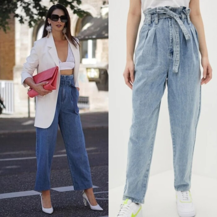 джинси з защипами