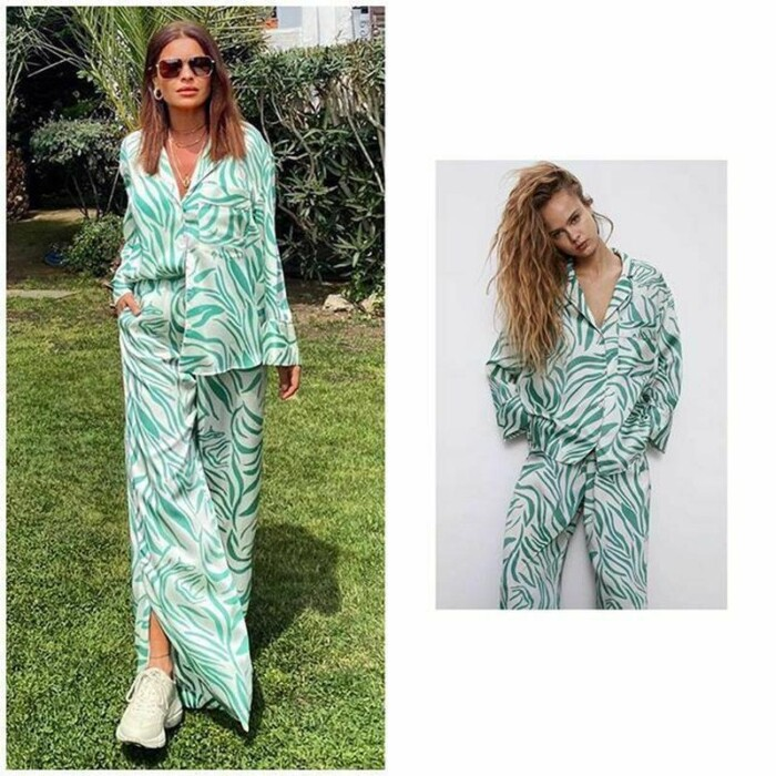 костюм в піжамному стилі