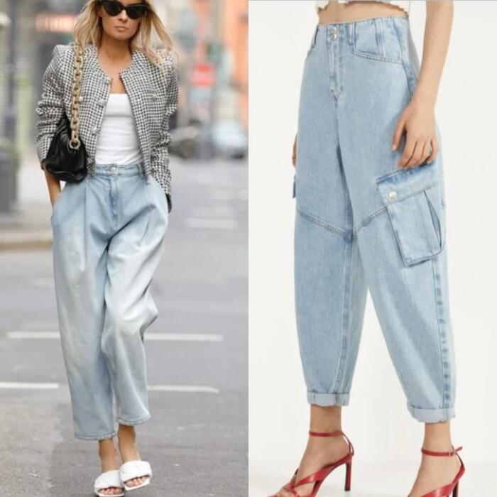 об'ємні джинси