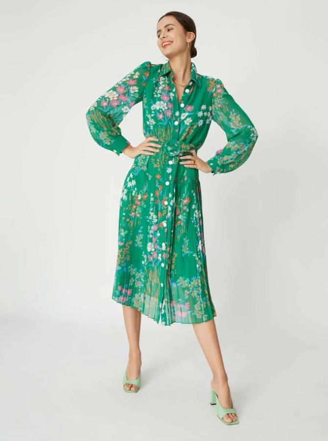 сукня з легкої тканини з квітковим принтом