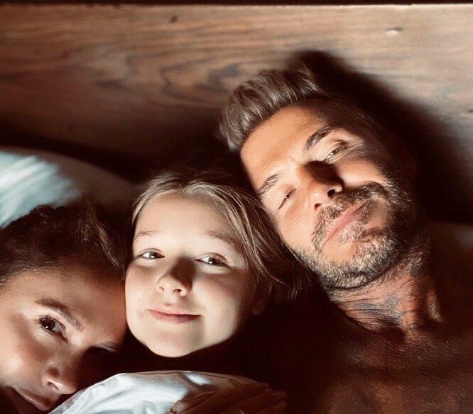 Бекхеми в ліжку