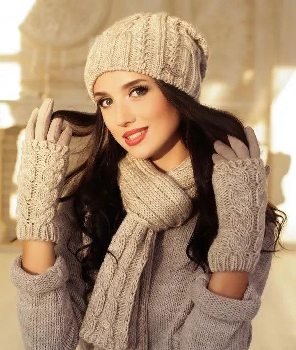 шапка шарф і рукавиці